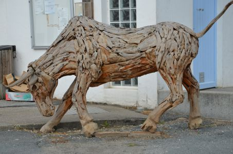 Wooden bull by Richard