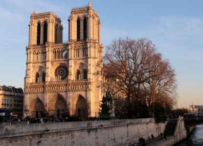 Notre Dame in the evening sun