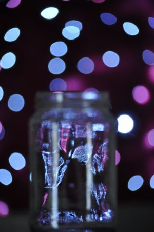 Bokeh jar by Denise