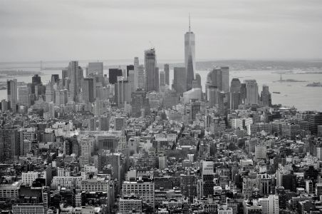 Manhattan From The Empire State Building B&W