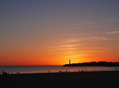 Sunset at St George de Didonne by Denise
